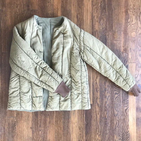 Vintage Jackets Amp Coats Military Quilted Liner Coat